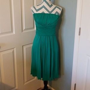 The Limited: Teal Strapless Dress